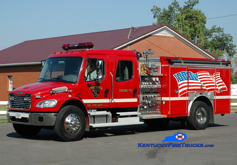 <center> Bremen  Engine 12 <br> 2003 Freightliner M2-106/E-One 1250/1000 <br> Greg Stapleton photo </center>