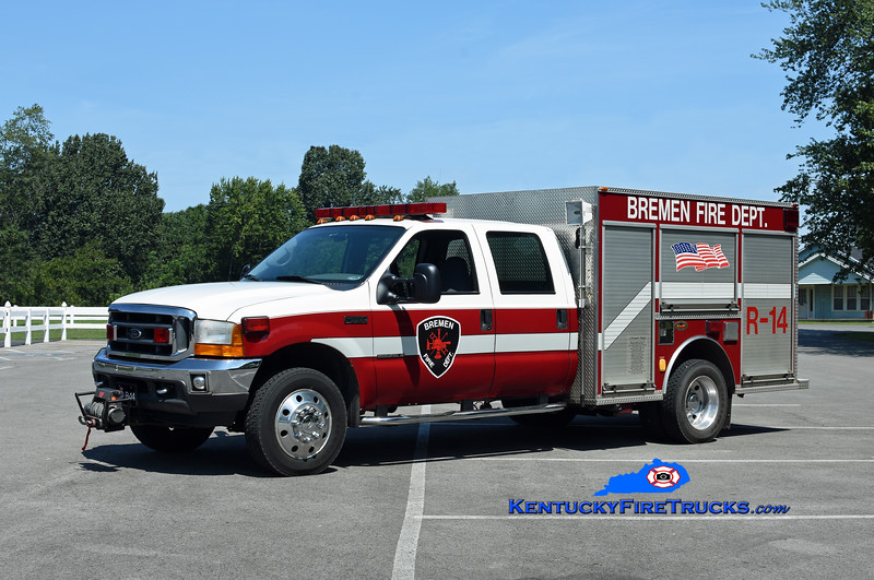 Bremen  Rescue 14<br /> x-Cary, NC<br /> 2001 Ford F-550 4x4/KME<br /> Kent Parrish photo