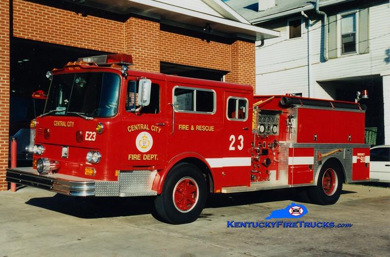 RETIRED <br /> Central City  Engine 23<br /> x-FDNY <br /> 1978 Mack/1993 Panama Fire 1000/1000<br /> Greg Stapleton photo
