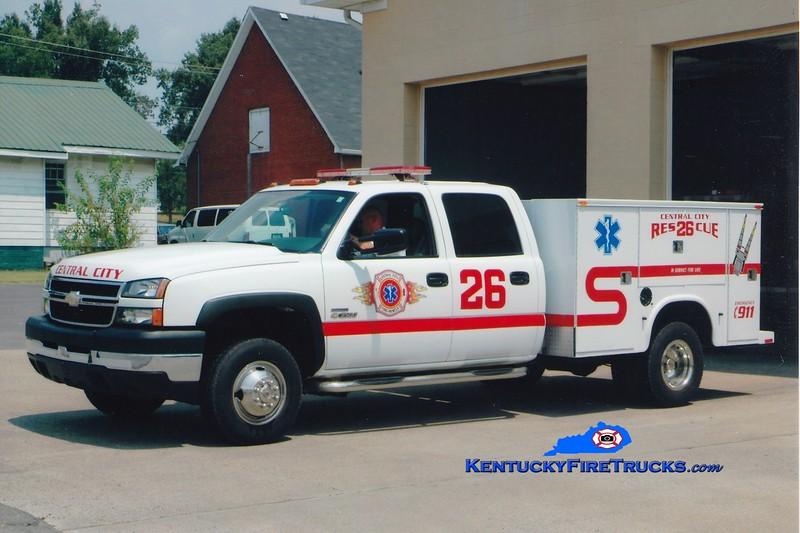 Central City  Rescue 26<br /> 2006 Chevy 3500 4x4/Knapheide <br /> Greg Stapleton photo