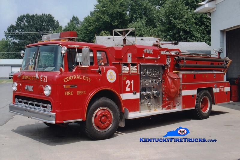 <center> RETIRED <br> Central City  Engine 21  <br> 1983 Ford C/FMC 1000/1000 <br> Greg Stapleton photo </center>
