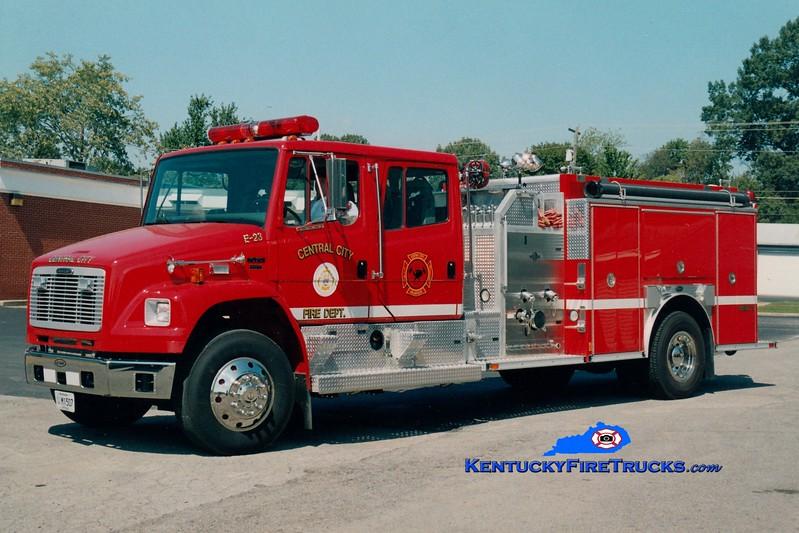 Central City  Engine 23<br /> 2003 Freightliner FL80/E-One 1250/1000<br /> Greg Stapleton photo