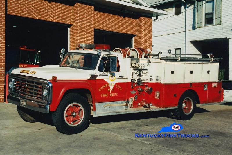 <center> RETIRED <br> Central City  Engine 22  <br> 1974 Ford F/American 750/500 <br> Greg Stapleton photo </center>