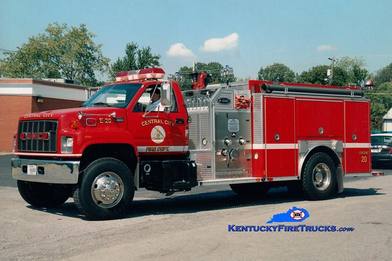 Central City  Engine 20<br /> 2001 GMC C8500/E-One 1250/1000<br /> Greg Stapleton photo