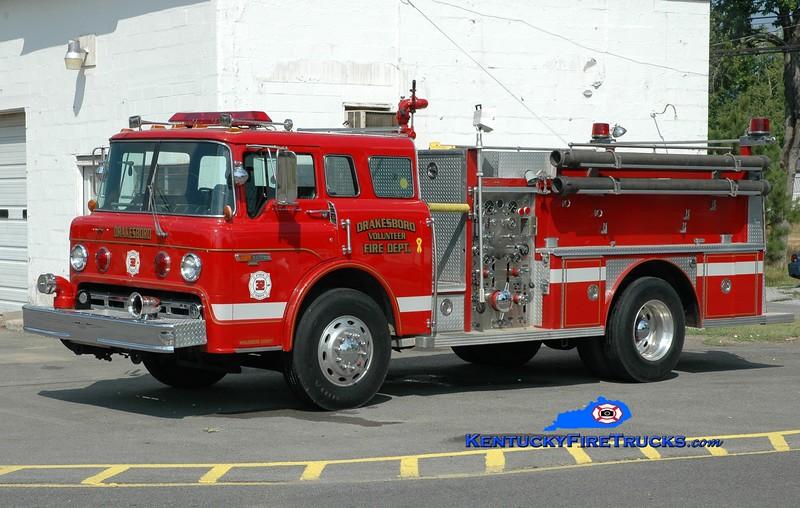 <center> RETIRED <br> Drakesboro  Engine 32  <br> 1984 Ford C-8000/E-One 1250/500 <br> Greg Stapleton photo </center>