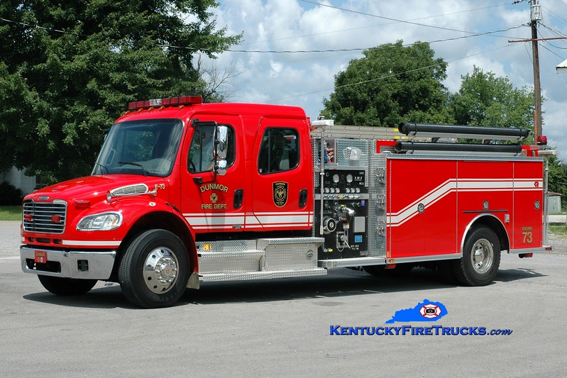 <center> Dunmor  Engine 73  <br> 2004 Freightliner M2-106/Rosenbauer-Central 1250/1000 <br> Greg Stapleton photo </center>