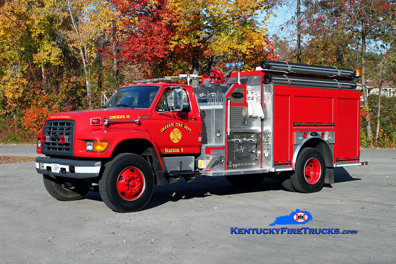 <center> Graham  Engine 61 <br> 1997 Ford F-800/2007 American (Bowling Green) 1250/1000 <br> Kent Parrish photo </center>