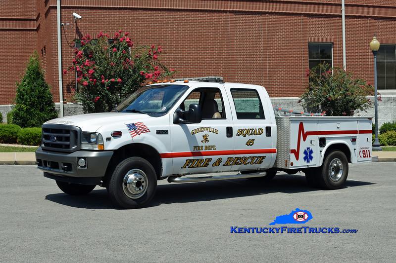 Greenville  Squad 45<br /> 2002 Ford F-350 4x4/Knapheide<br /> Kent Parrish photo