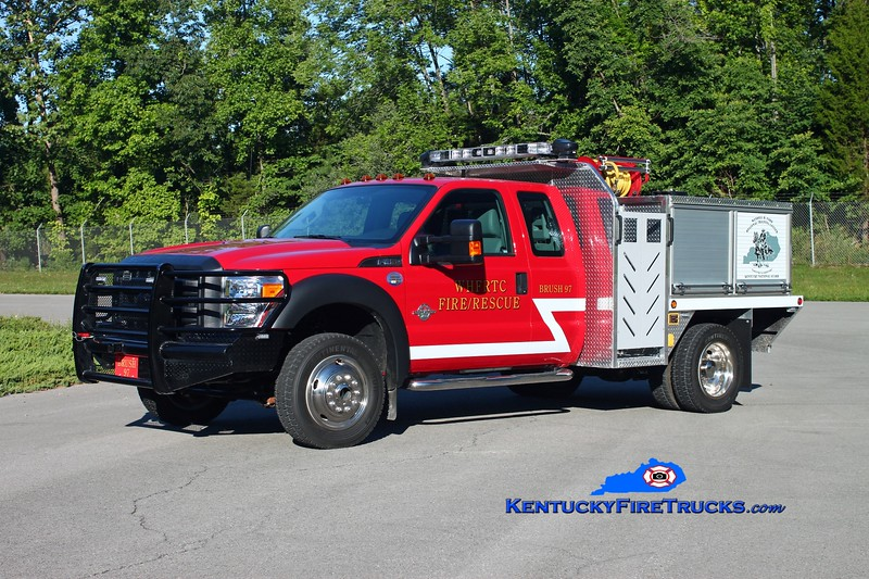 <center> Wendell H. Ford Regional Training Center Attack 97 <br> 2014 Ford F-450 4x4/Unruh 20HPP/300/12 <br> Kent Parrish photo </center>