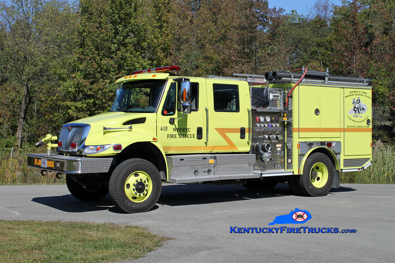 <center> US Army-Wendell H. Ford Regional Training Center Engine 91 <br> 2007 International 4200 4x4/E-One/Classic Fire 1000 (+250 aux pump)/400/30 <br> Kent Parrish photo </center>