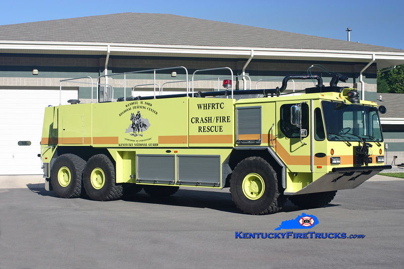 <center> US Army-Wendell H. Ford Regional Training Center ARFF 91 <br> 2003 E-One Titan HPR 6x6 2000/3000/400 <br> Kent Parrish photo </center>