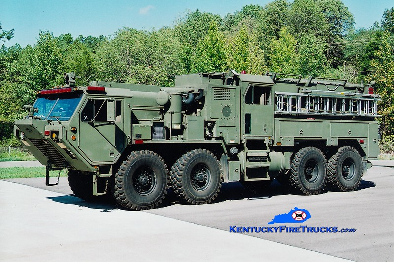 Kentucky National Guard  Engine 1 <br /> 2004 Oshkosh HEMTT M977/Pierce TFFT 1000/1000/60/60<br /> Greg Stapleton photo