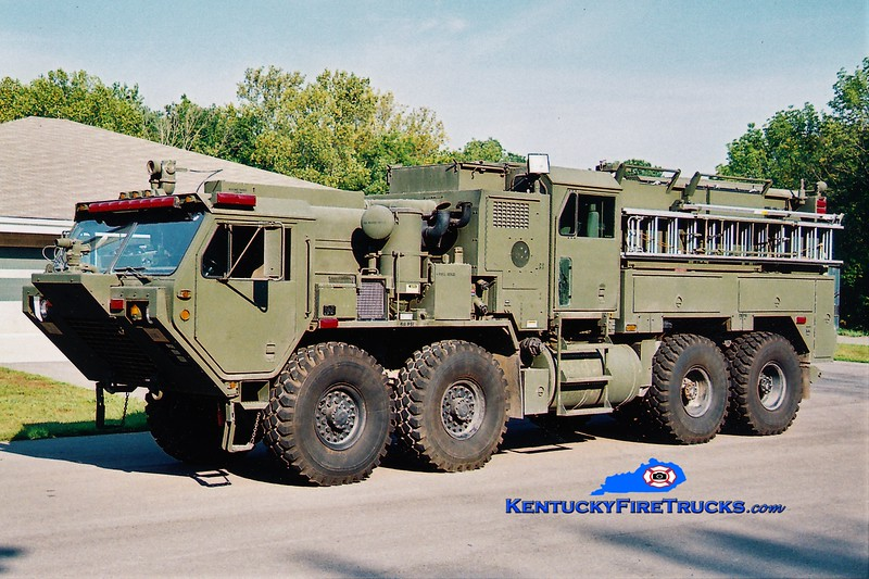 Kentucky National Guard  Engine 3 <br /> 2004 Oshkosh HEMTT M977/Pierce TFFT 1000/1000/60/60<br /> Greg Stapleton photo