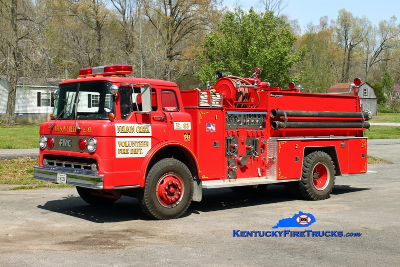Nelson Creek   Engine 83<br /> x-Greenville, KY <br /> 1984 Ford C-900/FMC 1000/750<br /> Kent Parrish photo