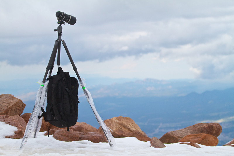 Photographing the landscape from Pikes Peak.