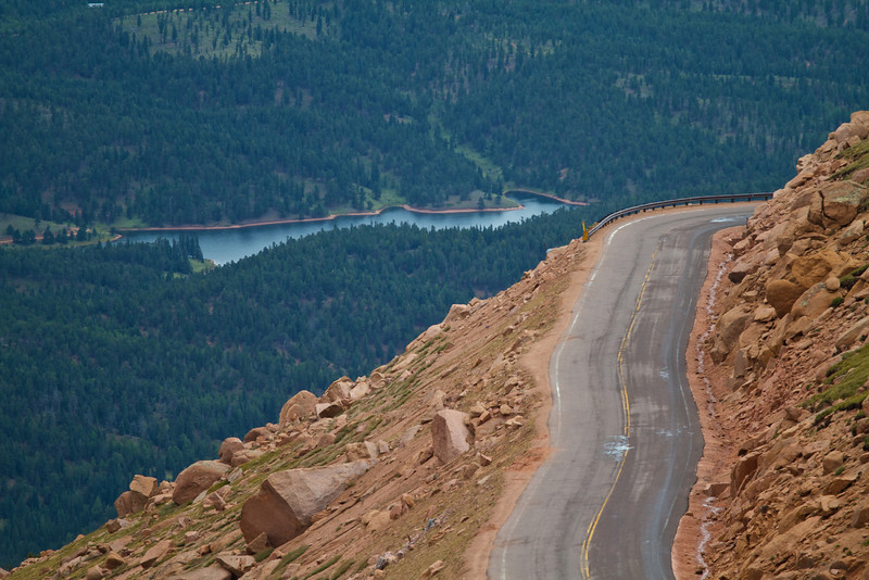 The environment becomes increasingly green upon descending the auto road from Pikes Peak.