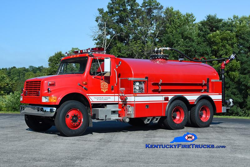 Bardstown Foam Tanker 1<br /> x-Oak Harbor, WA; x-Tanker 1 <br /> 1991 International 4900/Omco/2021 FD/TFT/Clarks Dairy 500/1000F/dual 2000 GPM nozzles  <br /> Kent Parrish photo
