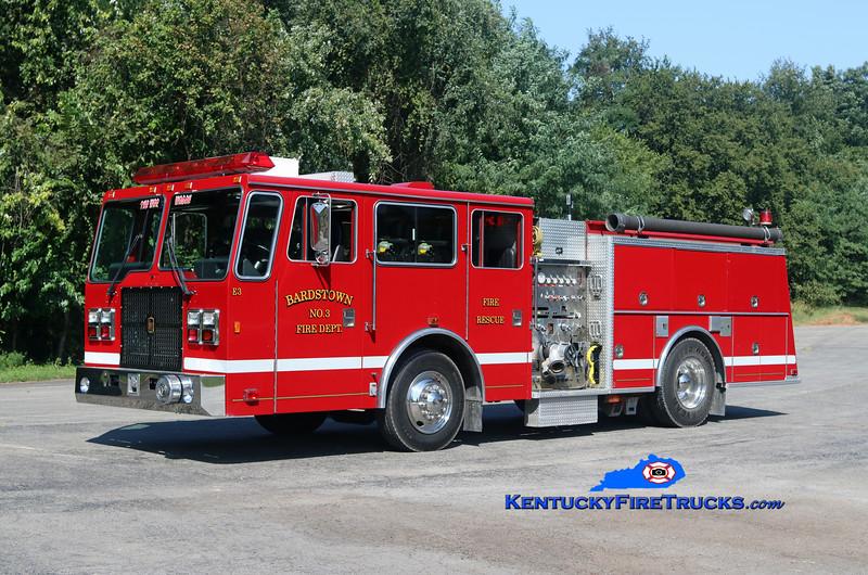 Bardstown KY  Engine 3<br /> x-Shamokin, PA<br /> 1993 International/KME Falcon 1250/500<br /> Kent Parrish photo