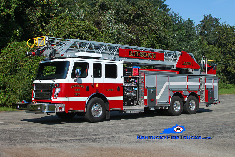 Bardstown  Ladder 1<br /> 2016 Rosenbauer Commander 2000/500/25/109' <br /> Kent Parrish photo