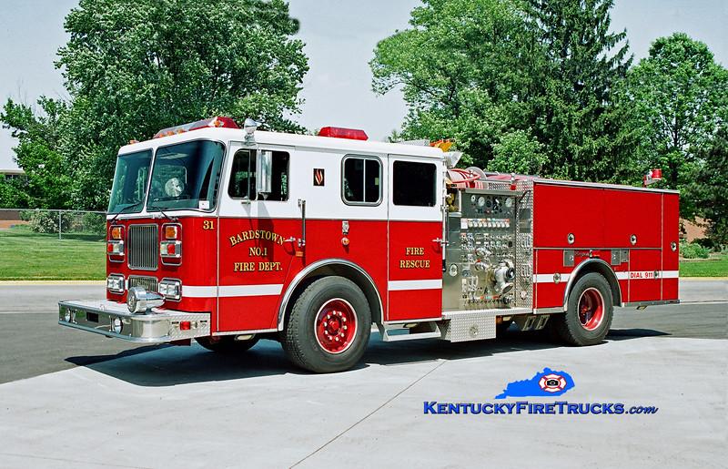 Bardstown Engine 31<br /> 1993 Seagrave Marauder 1250/500/20<br /> Kent Parrish photo