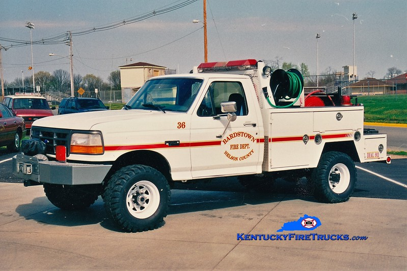 Bardstown-Nelson County  Brush 36<br /> 1996 Ford F-350 4x4/Local 250/200<br /> Greg Stapleton photo