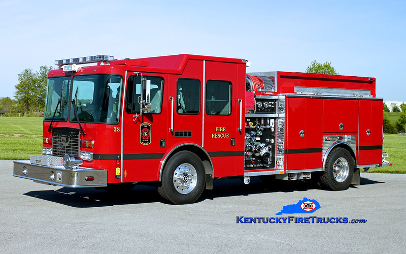 <center> Bardstown-Nelson County  Engine 38 <br> 2015 HME/Ferrara Intruder 2 1250/1000/30 <br> Kent Parrish photo </center>