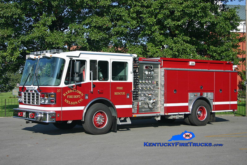 <center> Bardstown-Nelson County  Engine 37 <br> 2006 Ferrara Igniter 1250/1000/30 <br> Kent Parrish photo </center>