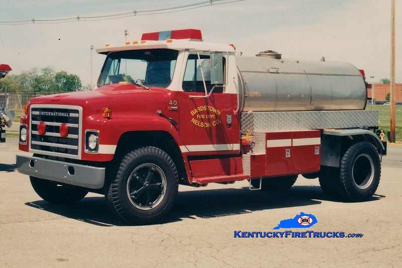 RETIRED <br /> Bardstown-Nelson County  Tanker 40<br /> 1979 International S/Local 250/1500<br /> Greg Stapleton photo