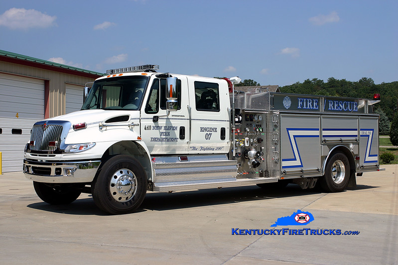 <center> New Haven  Engine 07 <br> 2007 International 4400/Bluegrass 1250/1000 <br> Kent Parrish photo </center>