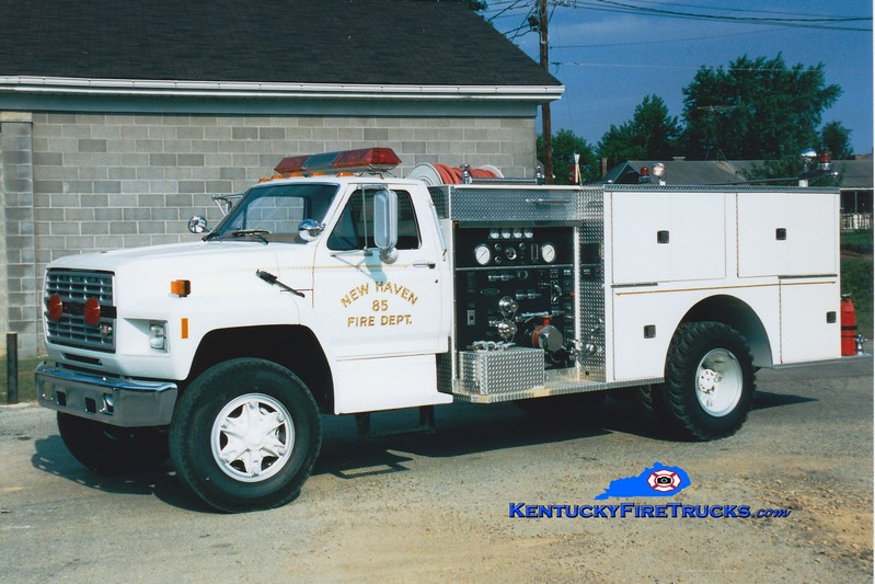 <center> New Haven  Engine 85 <br> 1985 Ford F/Pierce 1000/750 <br> Greg Stapleton photo </center>
