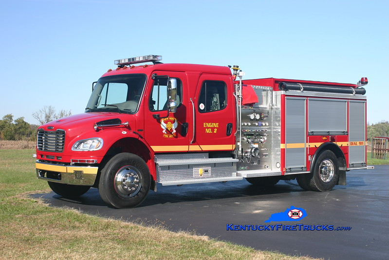 <center> New Hope  Engine 2 <br> 2007 Freightliner M2/American LaFrance 1250/1250 <br> Kent Parrish photo </center>