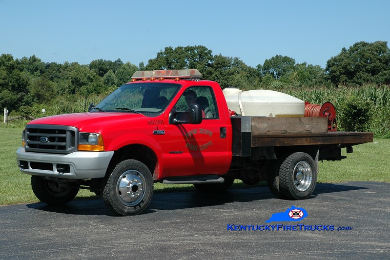 <center> RETIRED <br> New Hope  Brush 1 <br> 2000 Ford F-550 4x4/NHFD 50/325 <br> Greg Stapleton photo </center>