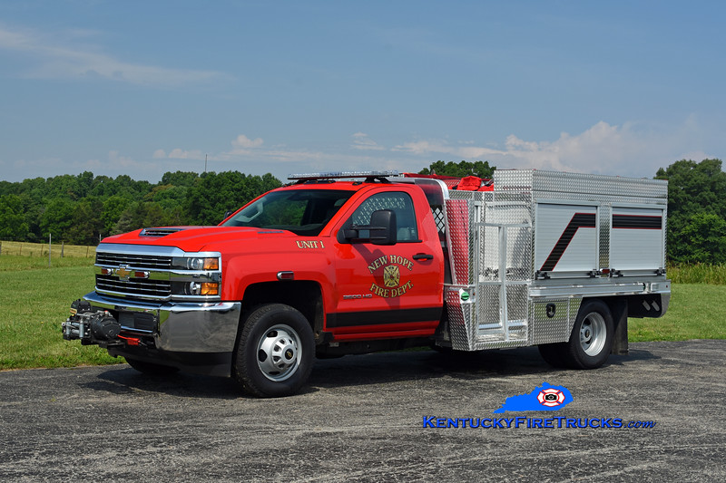 New Hope  Brush 1<br /> 2018 Chevy 3500 4x4/Southeast Apparatus 250/250<br /> Kent Parrish photo