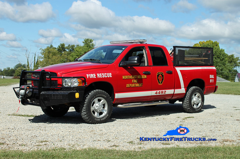 <center> Northeast Nelson  Brush 4492 <br> 2003 Dodge 2300 4x4 125/125 <br> Kent Parrish photo </center>