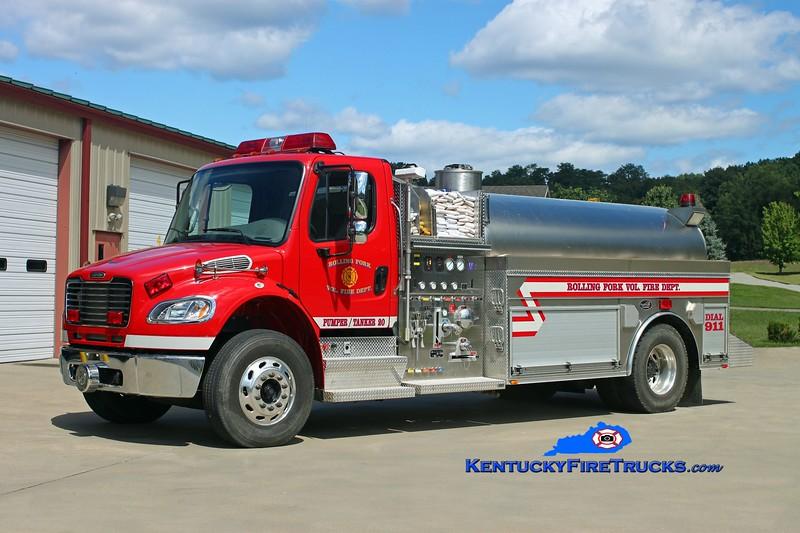 <center> Rolling Fork  Pumper-Tanker 20 <br> 2006 Freightliner M2-106/Bluegrass 750/2000 <br> Kent Parrish photo </center>