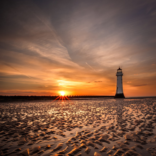 Another one from the trip to New Brighton. The sky went a lovely orange colour and the sand reflected it perfectly.