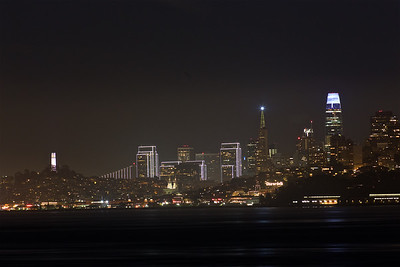 SF-181124-0001 Coit Tower, the Trans America Pyramid, Embarcadero Towers and the SalesForce Tower