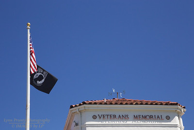 FB-190831-0004 American and POW-MIA flag at the Veterans Memorial Hall