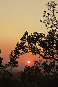 PF-HROS-180731-0001   Sun Rising Through Smoke of the Northern California Fires