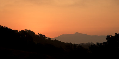 PF-HROS-180813-0002 Fire Smoke Still Produces a Lot of Early Morning Color with MT St. Helena in the Distance