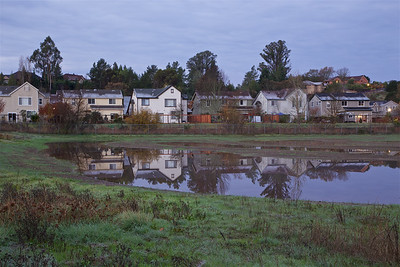 PF-181203-0001 Reflection of houses in the wetland water