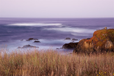 FB-191005-0001 A long exposure smooths out the waves in a before sunrise shot.