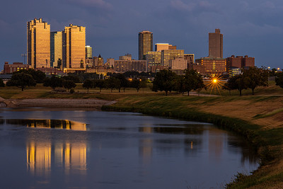 Downtown Fort Worth at Sunset