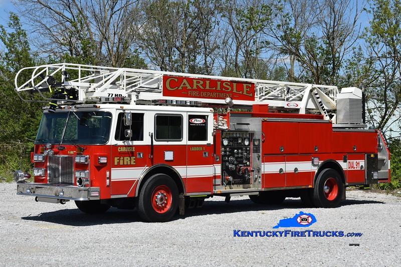 Carlisle  Ladder 1<br /> x-Howland Twp, OH & Washington, KY<br /> 1990 Pierce Arrow 1500/300/75' <br /> Greg Stapleton photo