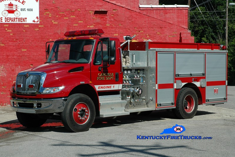 <center> Carlisle  Engine 1 <br> 2007 International 4400/Pierce 1250/1000  <br> Greg Stapleton photo <br> </center>