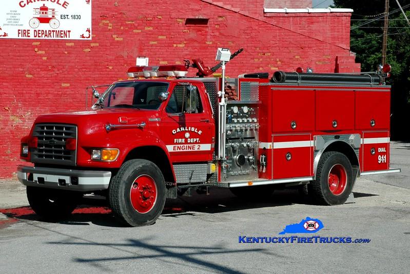 <center> Carlisle  Engine 2 <br> 1995 Ford F-800/E-One 1250/1000  <br> Greg Stapleton photo <br> </center>
