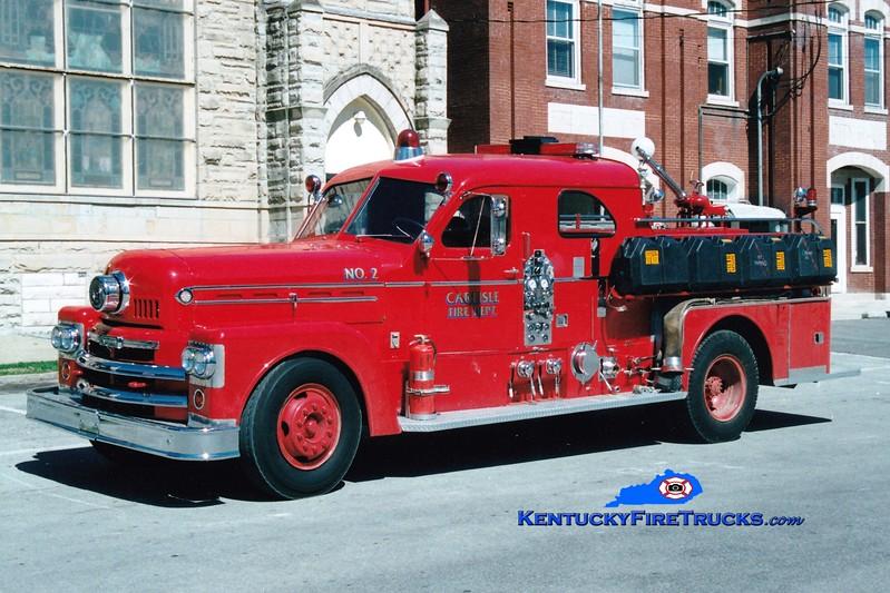 <center> RETIRED  <br> Carlisle  Engine 2 <br> x-Lexington, KY <br> 1963 Seagrave 1000/500 <br> Greg Stapleton photo <br> </center>