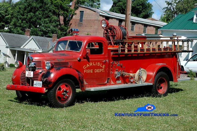 <center> RETIRED  <br> Carlisle  <br> 1945 Dodge/Darley 600/200 <br> Greg Stapleton photo <br> </center>