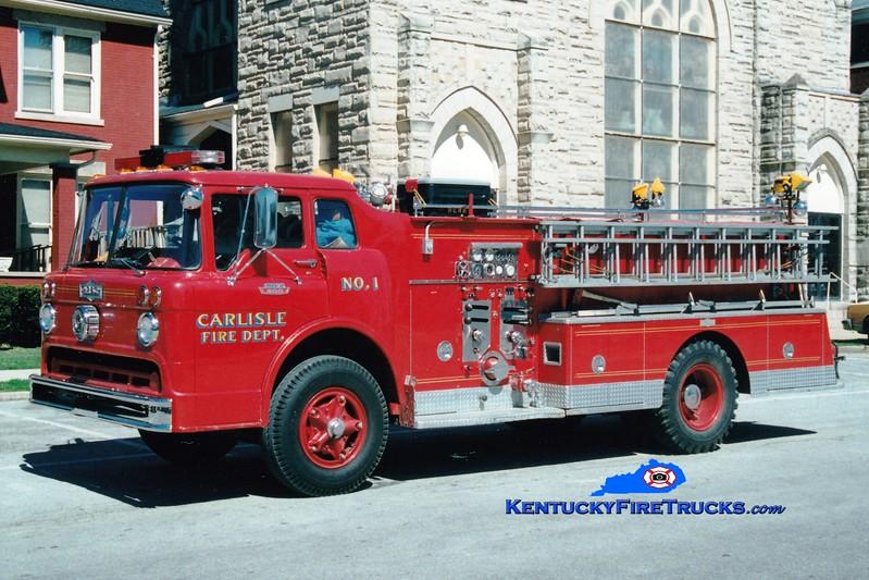 <center> RETIRED <br> Carlisle  Engine 1 <br> 1968 Ford C/Pirsch 750/500  <br> Greg Stapleton photo <br> </center>