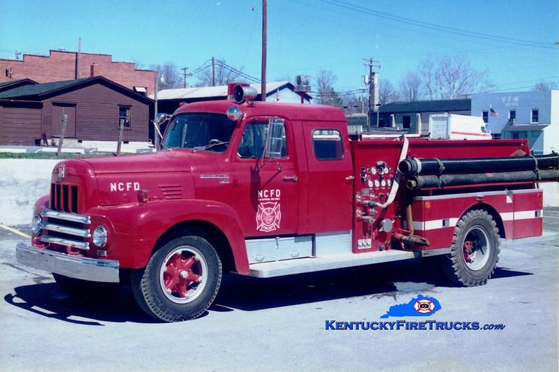 <center> RETIRED <br> Nicholas County  Engine 202 <br> x-US Army <br> 1970 International R196 FTI 750/750  <br> Greg Stapleton photo <br> </center>